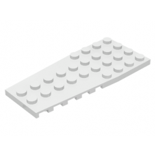 LEGO® 14181  White Wedge, Plate 4 x 9 with Stud Notches