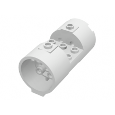 LEGO® 30360  White Cylinder 3 x 6 x 2 2/3 Horizontal - Round Connections Between Interior Studs