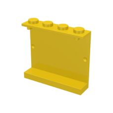 LEGO® 4215a  Yellow Panel 1 x 4 x 3 - Solid Studs