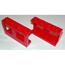 LEGO® 4863  Red Window 1 x 4 x 2 Plane