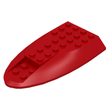 LEGO® 87615 Red Aircraft Fuselage Curved Aft Section 6 x 10 Top