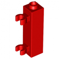 LEGO® 60583b Red Brick, Modified 1 x 1 x 3 with 2 Clips Vertical - Hollow Stud