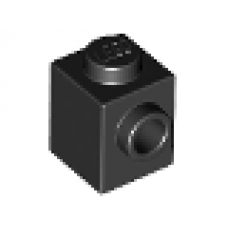 LEGO® 87087 Black Brick, Modified 1 x 1 with Stud on 1 Side