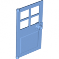 LEGO® 60623 Medium Blue Door 1 x 4 x 6 with 4 Panes and Stud Handle