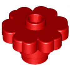 LEGO® 4728 Red Plant Flower 2 x 2 Rounded - Open Stud