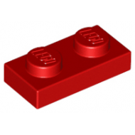 LEGO® 3023 Red Plate 1 x 2