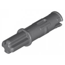 LEGO® 11214 Dark Bluish Gray Technic, Axle Pin 3L with Friction Ridges Lengthwise and 1L Axle