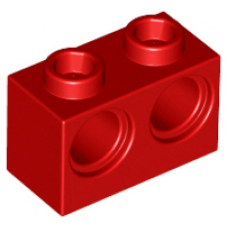 LEGO® 32000 Red Technic, Brick 1 x 2 with Holes