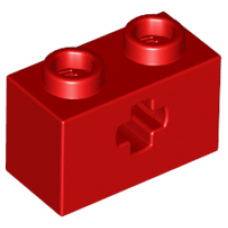 LEGO® 32064 Red Technic, Brick 1 x 2 with Axle Hole