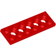 LEGO® 32001 Red Technic, Plate 2 x 6 with 5 Holes