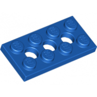 LEGO® 3709b Blue Technic, Plate 2 x 4 with 3 Holes