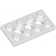 LEGO® 3709b White Technic, Plate 2 x 4 with 3 Holes