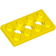 LEGO® 3709b Yellow Technic, Plate 2 x 4 with 3 Holes