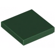 LEGO® 3068b Dark Green Tile 2 x 2 with Groove