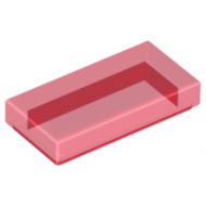 LEGO® 3069b Trans-Red Tile 1 x 2 with Groove