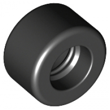 LEGO® 30028 Black Tire 14mm D. x 9mm Smooth Small Wide Slick