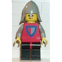 LEGO® cas074 Classic - Knight, Shield Red/Gray, Black Legs with Red Hips, Light Gray Neck-Protector