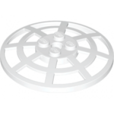 LEGO® 4285b  White Dish 6 x 6 Inverted (Radar) Webbed - Type 2 (underside attachment positions at 90 degrees)