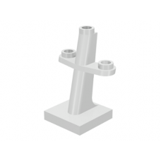 LEGO® 4289  White Boat Mast 2 x 2 x 3 Inclined with Stud on Top and Two Sides