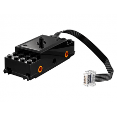LEGO® bb0896c01 Black Electric, Train Motor 9V RC Train with Integrated Powered Up Attachment, Orange Wheel Holders
