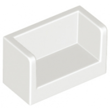 LEGO® 23969 White Panel 1 x 2 x 1 with Rounded Corners and 2 Sides