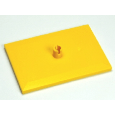 LEGO® 4025 Yellow Train Bogie Plate (Tile, Modified 6 x 4 with 5mm Pin)