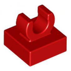 LEGO® 15712 Red Tile, Modified 1 x 1 with Open O Clip