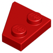 LEGO® 24307 Red Wedge, Plate 2 x 2 Right