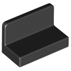 LEGO® 4865b Black Panel 1 x 2 x 1 with Rounded Corners