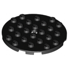 LEGO® 11213 Black Plate, Round 6 x 6 with Hole