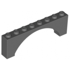 LEGO® 16577 Dark Bluish Gray Brick, Arch 1 x 8 x 2 Raised Arch