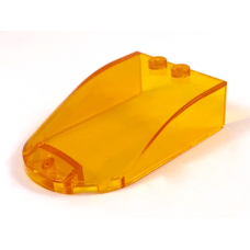 LEGO® 18973 Trans-Orange Windscreen 6 x 4 x 1 Curved