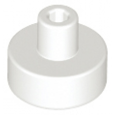 LEGO® 20482 White Tile, Round 1 x 1 with Bar and Pin Holder