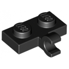 LEGO® 11476 Black Plate, Modified 1 x 2 with Clip on Side Horizontal Grip