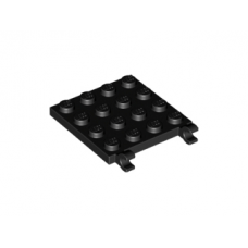 LEGO® 11399 Black Plate, Modified 4 x 4 with Open O Clips Horizontal Grip