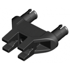 LEGO® 19159 Black Technic, Pin Double Triangle 1 x 3 with 2 Clips with Squared Pin Holes