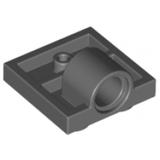 LEGO® 10247 Dark Bluish Gray Plate, Modified 2 x 2 with Pin Hole - Full Cross Support Underneath