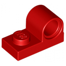 LEGO® 11458 Red Plate, Modified 1 x 2 with Pin Hole on Top