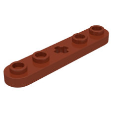 LEGO® 32124 Reddish Brown Technic, Plate 1 x 5 with Smooth Ends, 4 Studs and Center Axle Hole