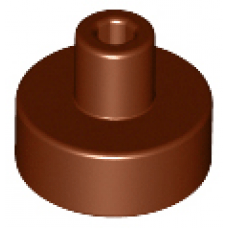 LEGO® 20482 Reddish Brown Tile, Round 1 x 1 with Bar and Pin Holder