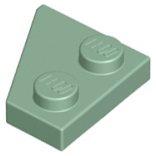 LEGO® 24307 Sand Green Wedge, Plate 2 x 2 Right