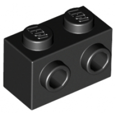 LEGO® 11211 Black Brick, Modified 1 x 2 with Studs on 1 Side