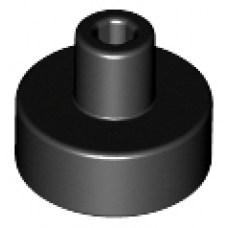 LEGO® 20482 Black Tile, Round 1 x 1 with Bar and Pin Holder