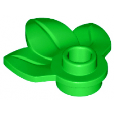 LEGO® 32607 Bright Green Plant Plate, Round 1 x 1 with 3 Leaves
