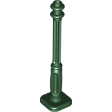 LEGO® 11062 Dark Green Support 2 x 2 x 7 Lamp Post, 4 Base Flutes