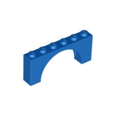 LEGO® 15254 Brick, Arch 1 x 6 x 2 - Medium Thick Top without Reinforced Underside Blue