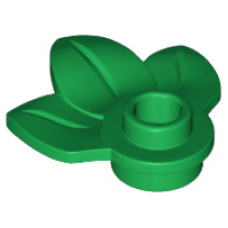LEGO® 32607 Plant Plate, Round 1 x 1 with 3 Leaves Green