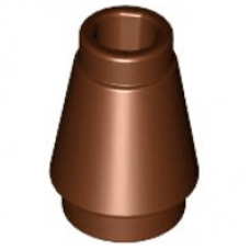 LEGO® 4589b Cone 1 x 1 with Top Groove Reddish Brown
