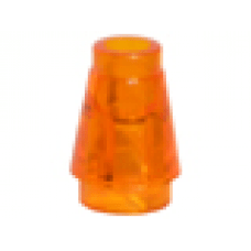 LEGO® 4589b Cone 1 x 1 with Top Groove Trans-Orange