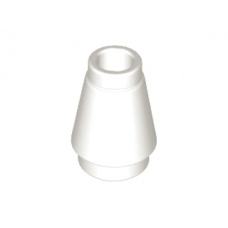 LEGO® 4589b Cone 1 x 1 with Top Groove White